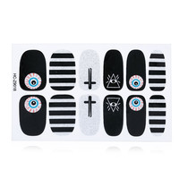 12pcs / Package Harajuku Stickers France Nail Art Decorations Tools