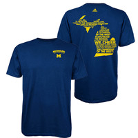 The M Den -Adidas University of Michigan Navy ''Fight, Fight, Fight'' Tee