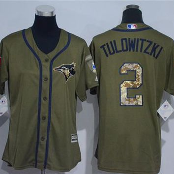 Women's Toronto Blue Jays #2 Troy Tulowitzki Cool Base Player Jersey | Best Deal Online