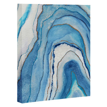 Viviana Gonzalez AGATE Inspired Watercolor Abstract 02 Art Canvas