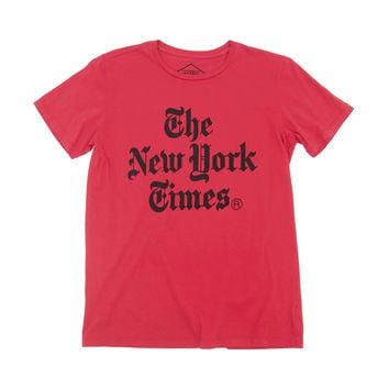 NYT Stacked - Red Tee