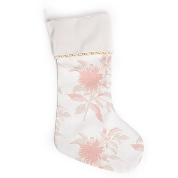 "Gukuuki ""Pastel Fluers"" Pink White Christmas Stocking"