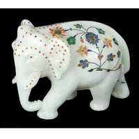 Royal Elephant Marble Sculpture