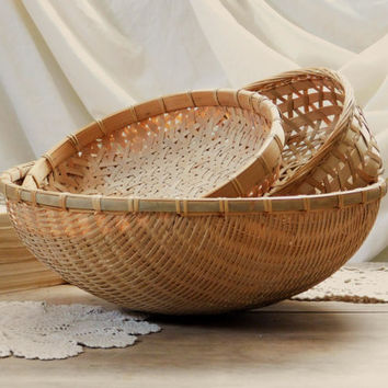 Woven Wicker Basket Collection