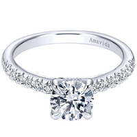 "Gabriel Amavida ""Ronan"" Classic Shared Prong Diamond Engagement Ring"
