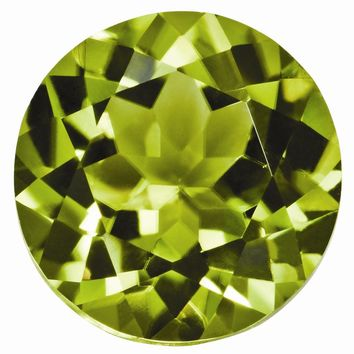 Loose Peridot Gemstone  5mm Round AA Quality