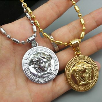 Classic VERSACE Pendant Necklace Hip Hop Jewelry
