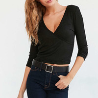 Truly Madly Deeply Bella Surplice Top - Urban Outfitters