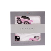 Digger Crib Sheet Pink by Newcastle Classics