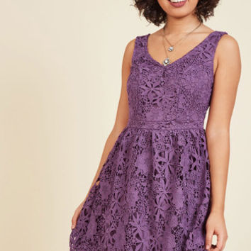 Dreams of Decadence Lace Dress in Violet | Mod Retro Vintage Dresses | ModCloth.com