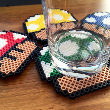 Super Mario Mushroom Coasters (Set of 4)