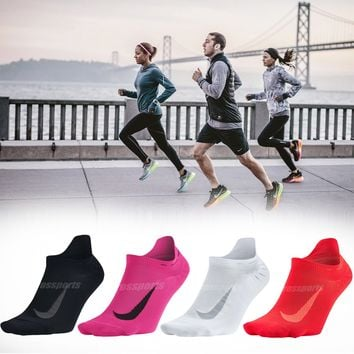 Nike Elite Lightweight No-Show Running Training Marathon Mens Womens Socks Pick1