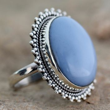 Opal cocktail ring, 'Blue Promise'