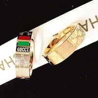 PEAPYV2 GUCCI Women Fashion Plated Ring Jewelry