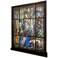 Oustanding & Rare Antique Stained Glass Panel by Mauméjean Frères