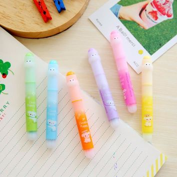 G03 6pcs/lot Cute Kawaii Dog Colorful Highlighter Marker Pen Drawing School Office Supply Student Stationery