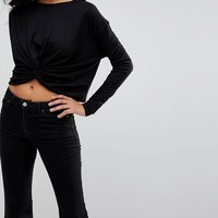 New Look Loose Twist Front Long Sleeve Top at asos.com