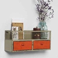 Industrial Caged Organizer- Orange One