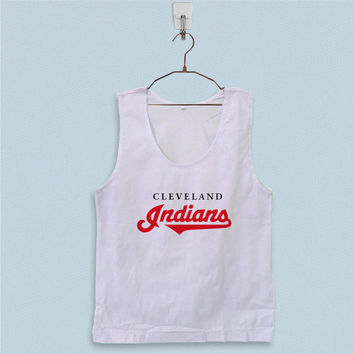 Men's Basic Tank Top - Cleveland Indians Logo