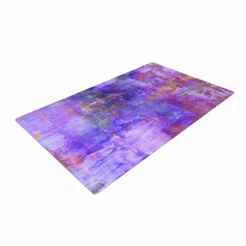 "Ebi Emporium ""Purple Fog"" Purple Painting Woven Area Rug"