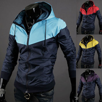 Mens Slim Hooded Spring Jacket