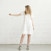 ON SALE Poplin Dress - White