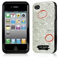Contour Design Kate Spade Classifieds Newspaper Premium Hardshell iPhone 4/4s Case Cover Protector
