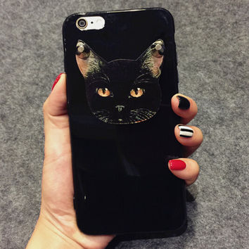 Punk River Cat Case Cover for iphone 5s 6 6s Plus Gift 193