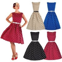 dress 50'S 60'S ROCKABILLY DRESS Vintage Style Swing Pinup Retro Housewife Party [9305650759]