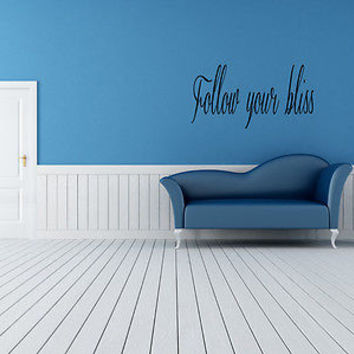 Follow Your Bliss quote wall sticker quote decal wall art decor 5464
