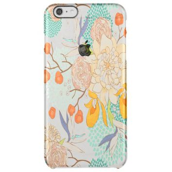 Modern Rose Peony Flower Pattern Uncommon Clearly™ Deflector iPhone 6 Plus Case