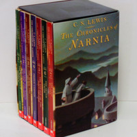 C.S. Lewis - The Chronicles of Narnia Boxed Set - Children's Fantasy Novels - First Scholastic Edition 1995 - Vintage Softcover Fiction Book