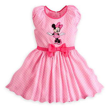 Minnie Mouse Party Dress for Girls - Pink