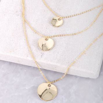 Mini Coin Layered Necklace
