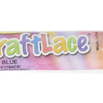 CraftLace Hank Craft Lace for Lanyards and Craft Work, Dark Blue