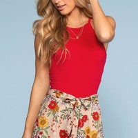 Desert Flower Floral Shorts