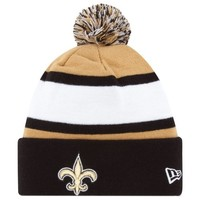 New Era New Orleans Saints 2013 On-Field Player Sideline Sport Knit Hat - Black/Gold