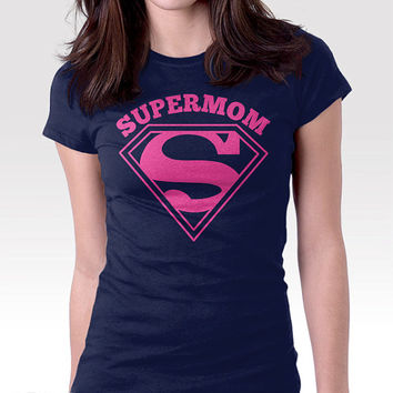 Gift for Mom - Supermom Shirt. 100% Cotton. Mens, womens and kids sizes. A gift for mom or a mom to be.