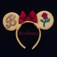Disney Belle Minnie Mouse Ears headband