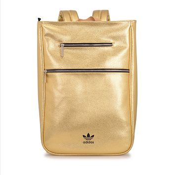 ADIDAS Woman Men Fashion Leather Backpack Bookbag Shoulder Bag
