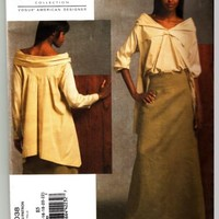 Vogue pattern 1038 Donna Karan Top and Skirt