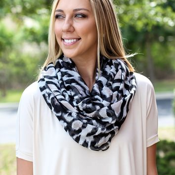 Purrrfectly Spotted Infinity Scarf