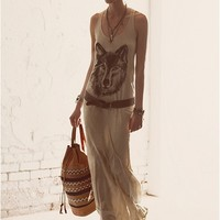 Maggie Maxi Dress - Vintage White Wolf