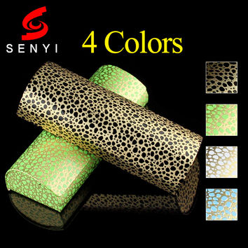 New Fashion Leopard Hard Eyeglasses Case for Optical Glasses Spectacles Box Semicircle Myopia/Presbyopic Glasses Handmade Box
