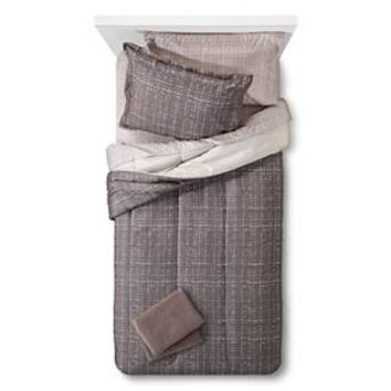 Bedding Set with Towels Twin XL Gray - Room Essentials™ : Target