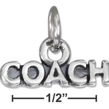 "Sterling Silver Charm:  Antiqued ""coach"" Charm"