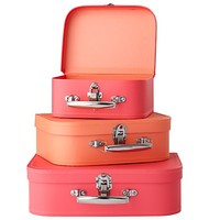 Bon Voyage Suitcase (Pink/Peach) in Storage Collections | The Land of Nod