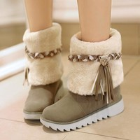 Women's Thermal Fur Tassel Boot