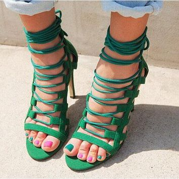 Topsqueen Cross Strap Sandals