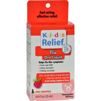 Homeolab Usa Kids Relief Flu For Kids 2-plus Raspberry - 0.85 Fl Oz